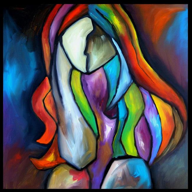 Art: abstract 425 2424 Original Abstract Art Decision Time by Artist Thomas C. Fedro