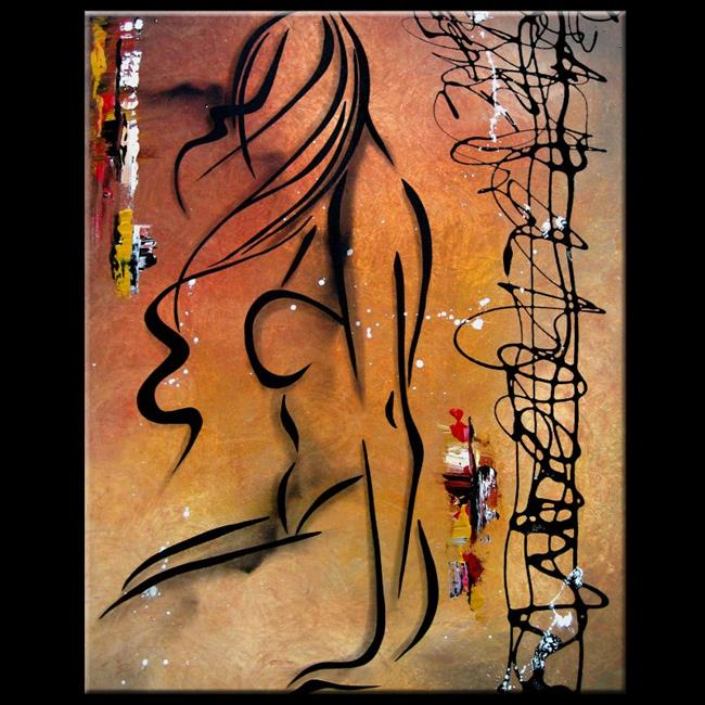 Art: Nude 149 2430 GW Original Abstract nude Art Stay On The Edge by Artist Thomas C. Fedro