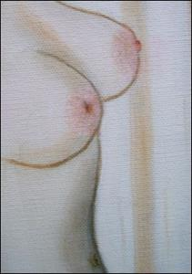Detail Image for art Series of Three Bright Nude Ladies