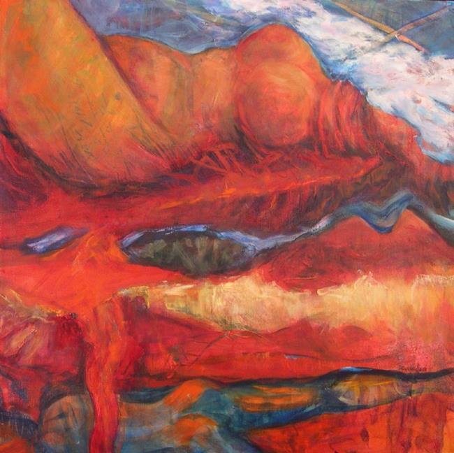 Art: Lucy in the Sky (sold) by Artist Virginia Ann Zuelsdorf