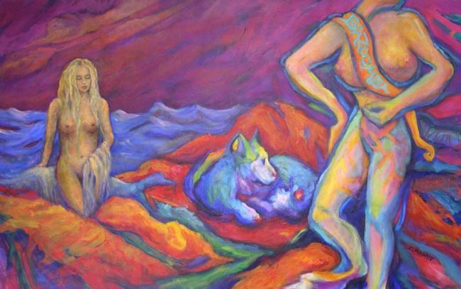 Art: BAZOOMBA (sold) by Artist Virginia Ann Zuelsdorf