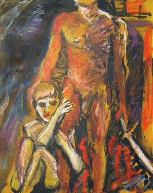 Art: Greek Man of War  by Artist Virginia Ann Zuelsdorf