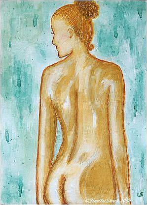 Art: Watercolor Nude by Artist Lar Shackelford