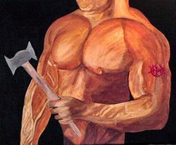 Art: The Lumberjack by Artist Dia Spriggs