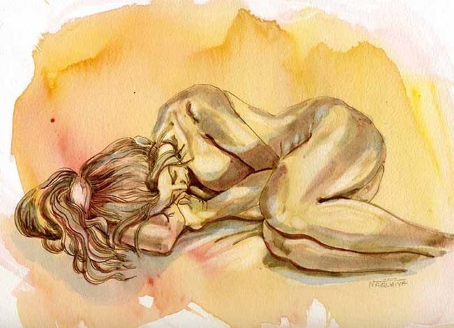 Art: Nude with Pony Tail by Artist Naquaiya