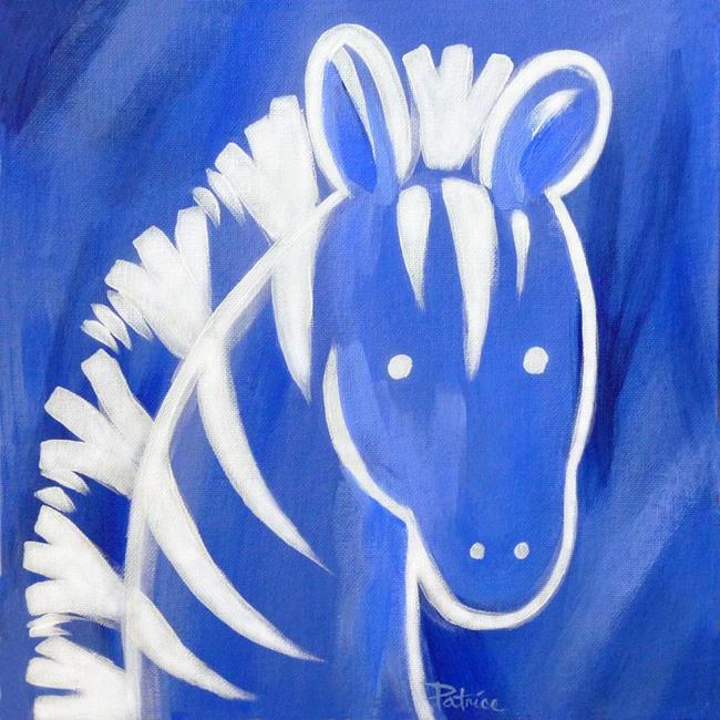 Art: Zeke Zebra by Artist Patricia  Lee Christensen