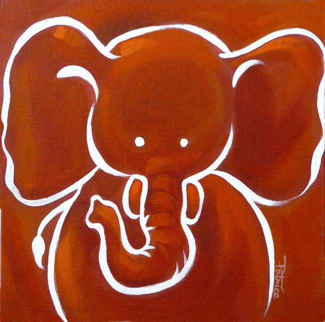 Art: Ella Elephant by Artist Patricia  Lee Christensen