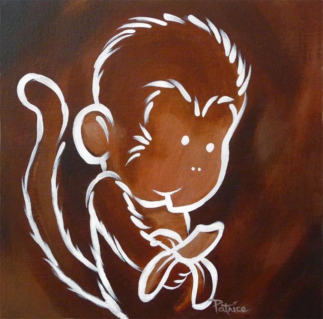 Art: Mikey Monkey by Artist Patricia  Lee Christensen