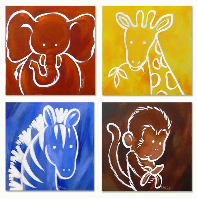 Art: Nursery Zoo Animals Series by Artist Patricia  Lee Christensen