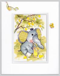Art: Elephant Lemonade Party by Artist Patricia  Lee Christensen