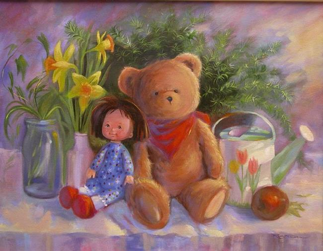 Art: Gina's Friends by Artist Patricia  Lee Christensen