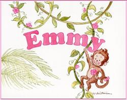 Art: Monkey Baby Name - Commission Work - Sold by Artist Patricia  Lee Christensen