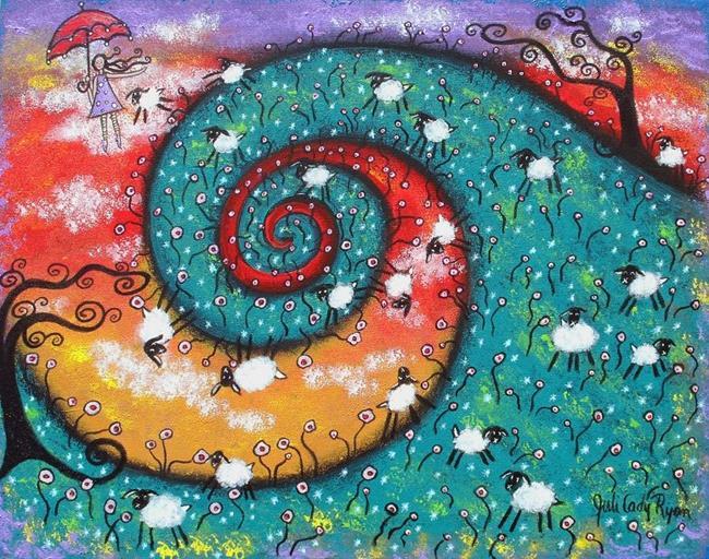 Art: Bo Peep Daydreams by Artist Juli Cady Ryan