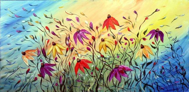 Art: MUSIC and FLOWERS by Artist LUIZA VIZOLI