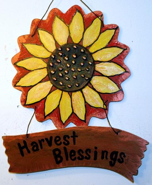 Art: HARVEST BLESSINGS for your home by Artist LUIZA VIZOLI
