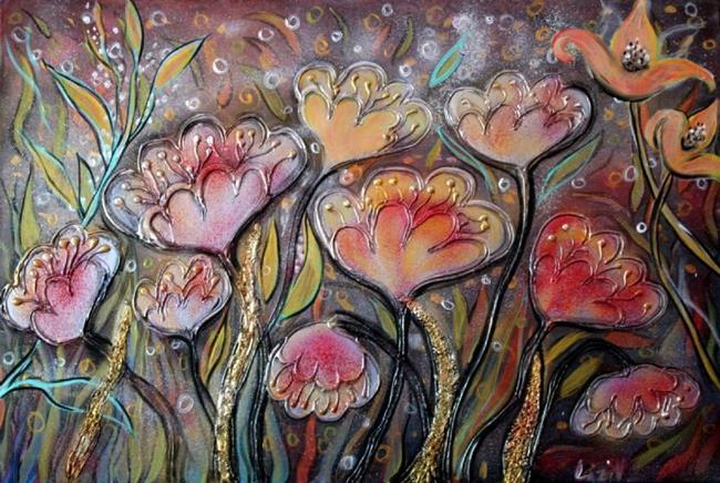 Art: MUSIC of FLOWERS by Artist LUIZA VIZOLI