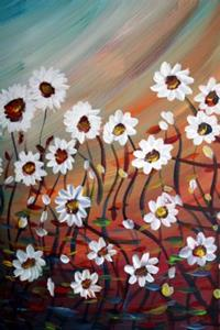 Detail Image for art WHITE DAISIES IN THE MORNING