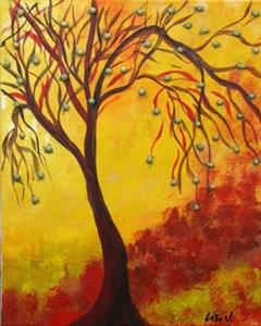 Detail Image for art BRIGHT AUTUMN TREES