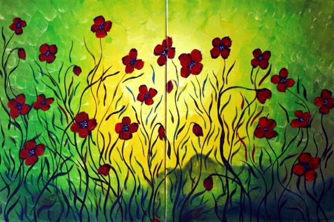 Art: SUMMER SYMPHONY  by Artist LUIZA VIZOLI
