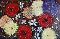 Art: AUTUMN FLOWERS by LUIZA VIZOLI