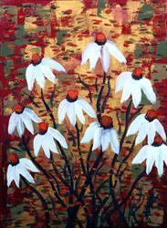 Art: WHITE FLOWERS for CHRISTMAS by LUIZA VIZOLI