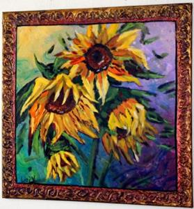 Detail Image for art SUNFLOWERS IN THE RAIN