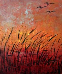 Detail Image for art SUNSET OVER LAKE