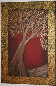 Tree Of Life By Luiza Vizoli From Original Mixed Media Art
