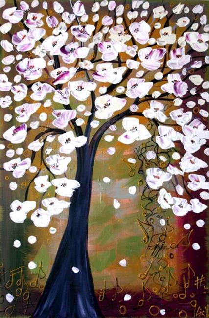 Art: Magnolia Tree by Artist LUIZA VIZOLI