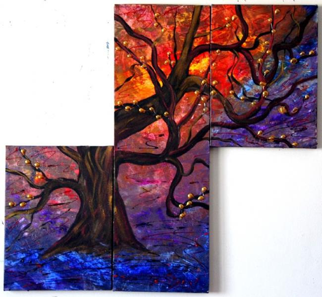 Art: DRAGON TREE by Artist LUIZA VIZOLI