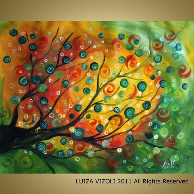 Art: SPRING RAIN by Artist LUIZA VIZOLI