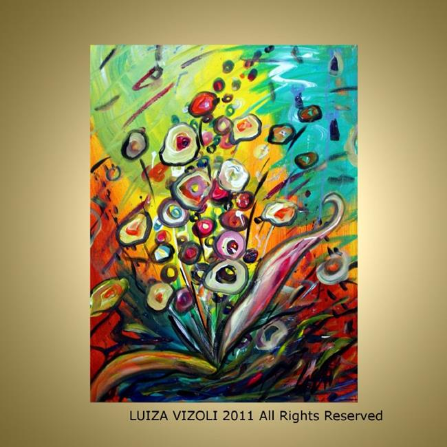 Art: COLORFUL BOUQUET by Artist LUIZA VIZOLI