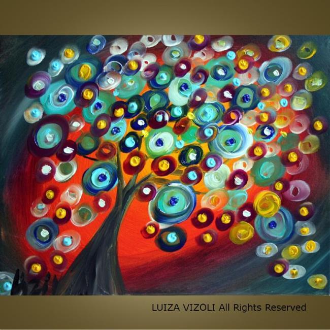 Art: sunset tree.jpg by Artist LUIZA VIZOLI