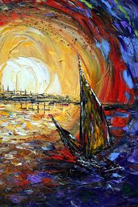 Detail Image for art Sailboat at SUNSET