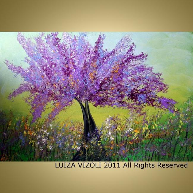 Art: LILAC TREE by Artist LUIZA VIZOLI