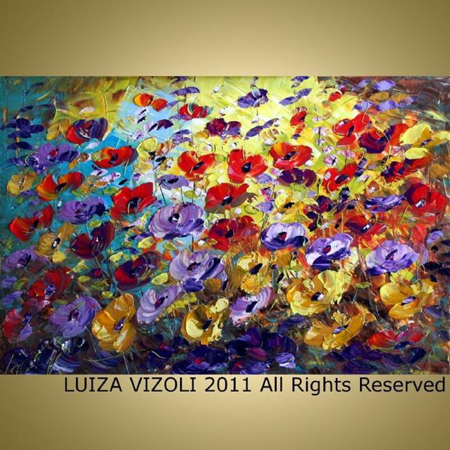 Art: Summer Garden by Artist LUIZA VIZOLI