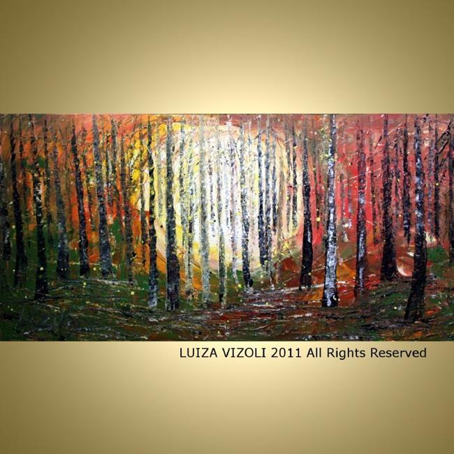 Art: Sunset Forest by Artist LUIZA VIZOLI