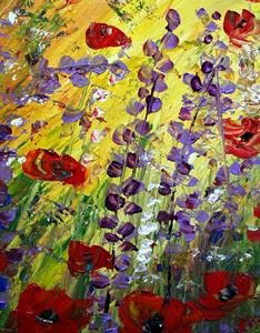 Detail Image for art LUPINE and POPPIES