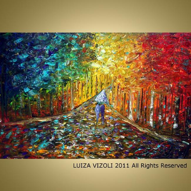 Art: COLORFUL RAIN by Artist LUIZA VIZOLI