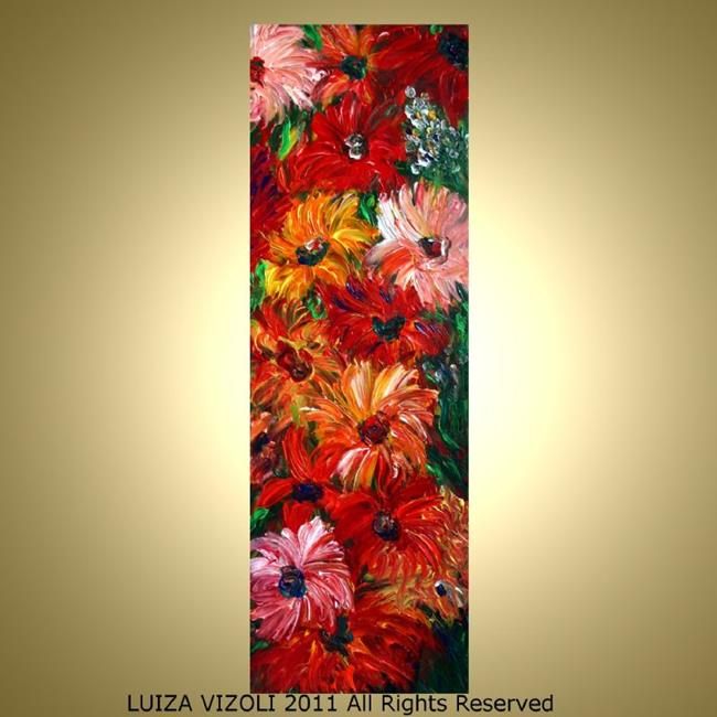 Art: DAHLIA FLOWERS by Artist LUIZA VIZOLI
