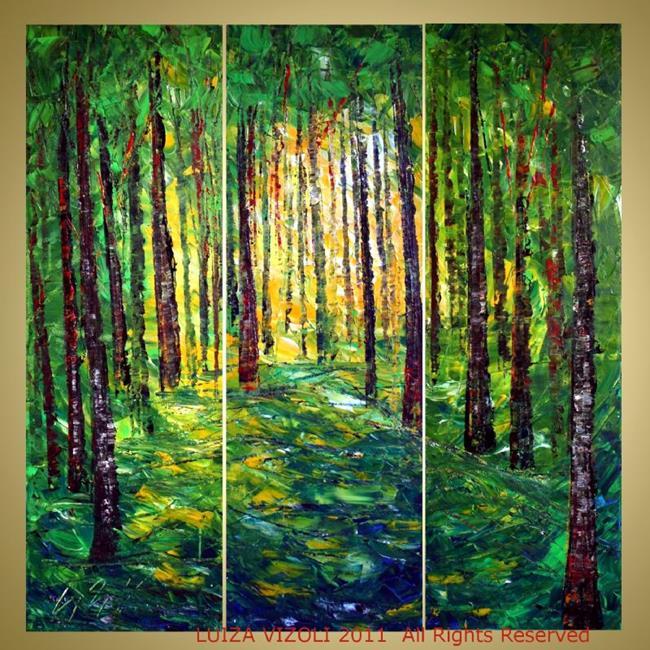 Art: Spring Woods by Artist LUIZA VIZOLI