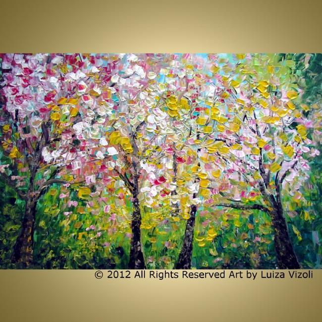 Art: CHERRY TREES by Artist LUIZA VIZOLI
