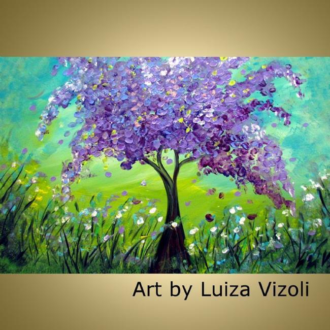 Art: SPRING LILAC by Artist LUIZA VIZOLI
