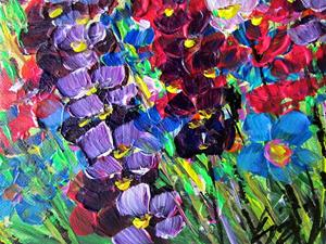 Detail Image for art TALL COLORFUL FLOWERS