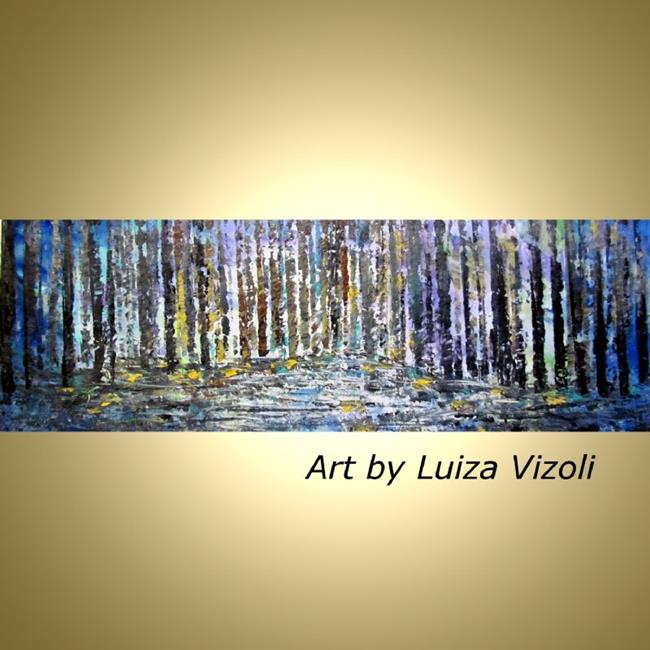 Art: WINTER FOREST by Artist LUIZA VIZOLI