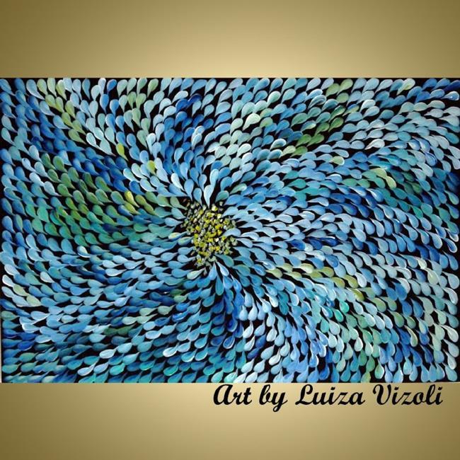 Art: BLUE PETALS by Artist LUIZA VIZOLI