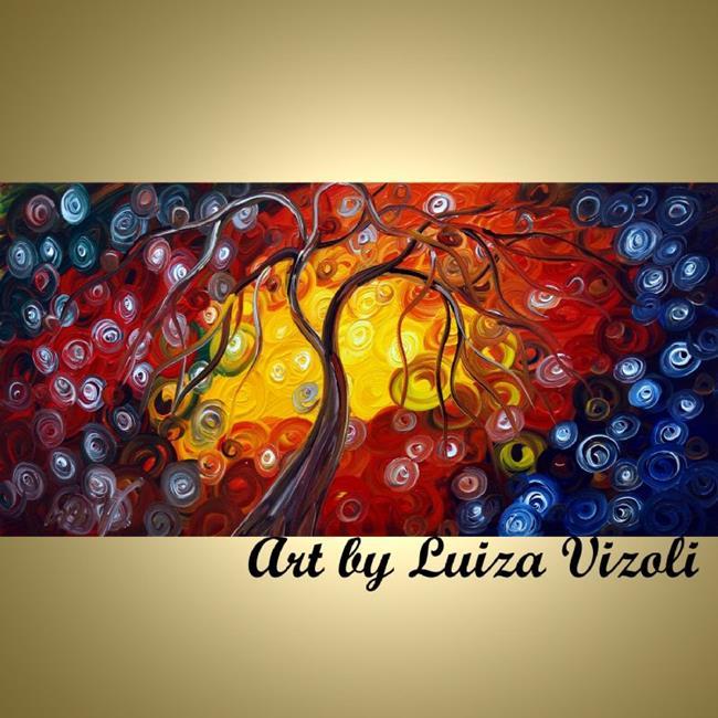 Art: DANCING AT SUNSET by Artist LUIZA VIZOLI