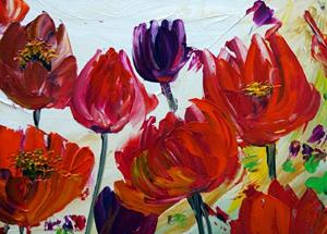 Detail Image for art RED TULIP FLOWERS