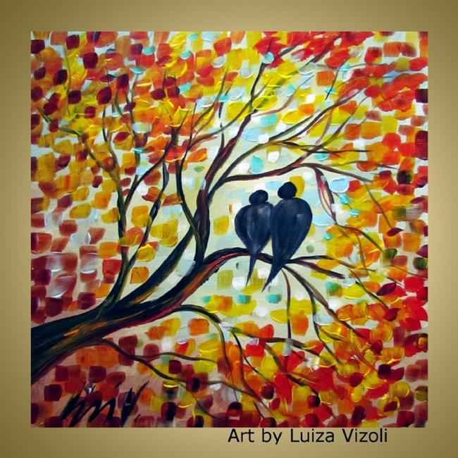 Fall romance by luiza vizoli from original paintings 2012 for Fall paintings easy