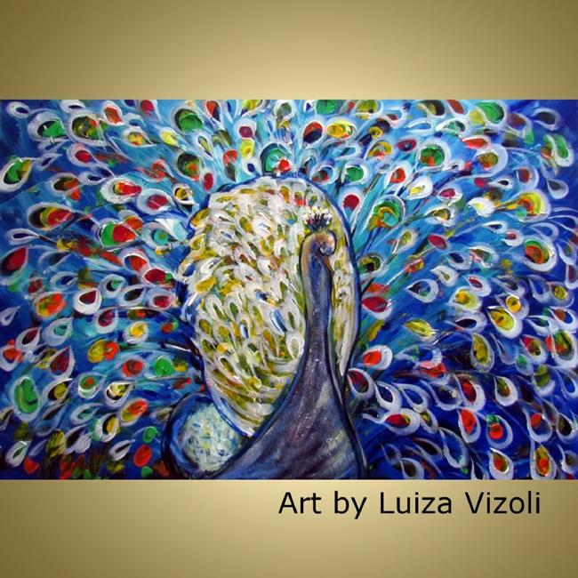 The peacock by luiza vizoli from original paintings 2012 for Imagenes de cuadros abstractos famosos